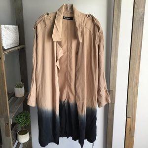 BLANK NYC Dip Dye Trench Coat NWT
